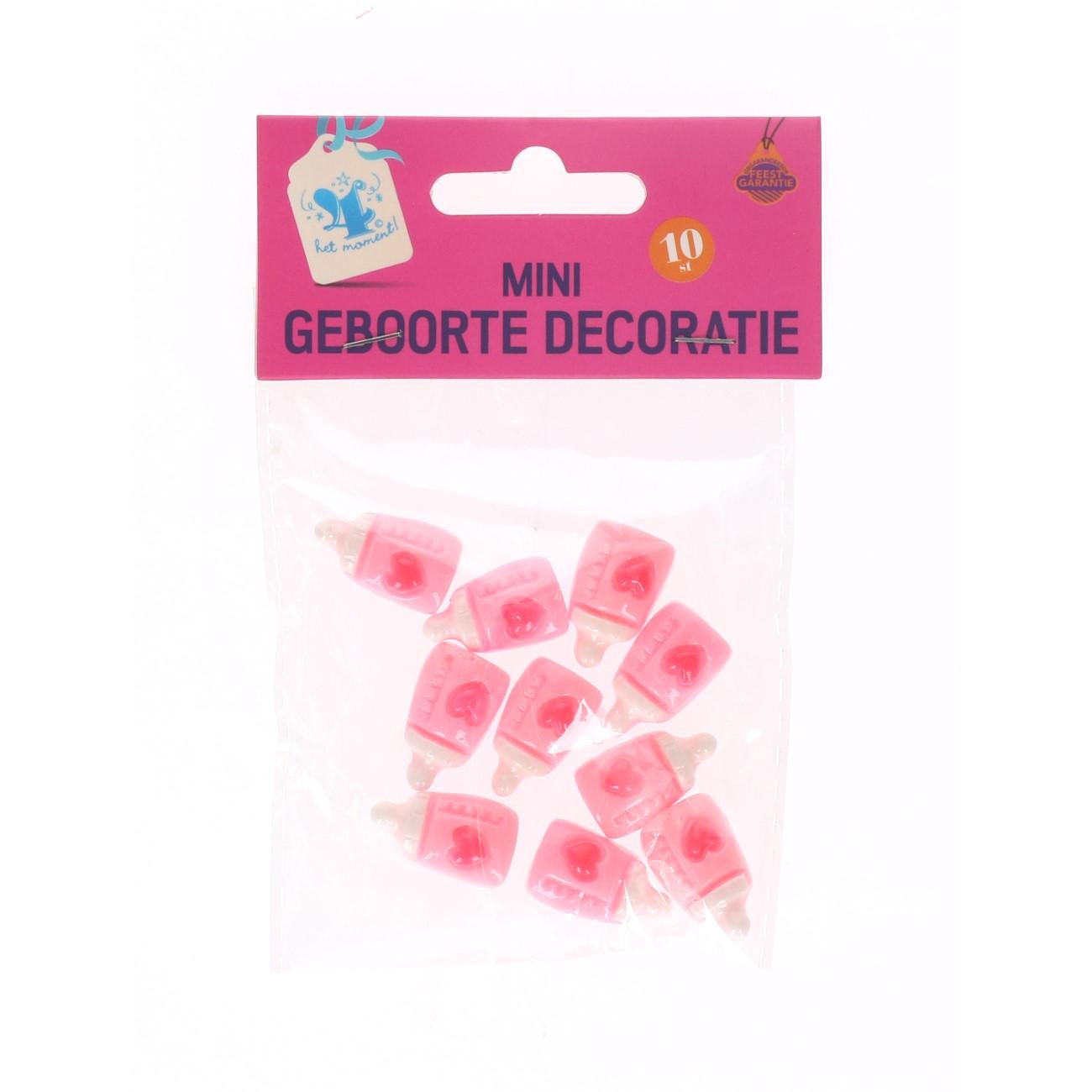 Mini geboorte decoratie roze #689