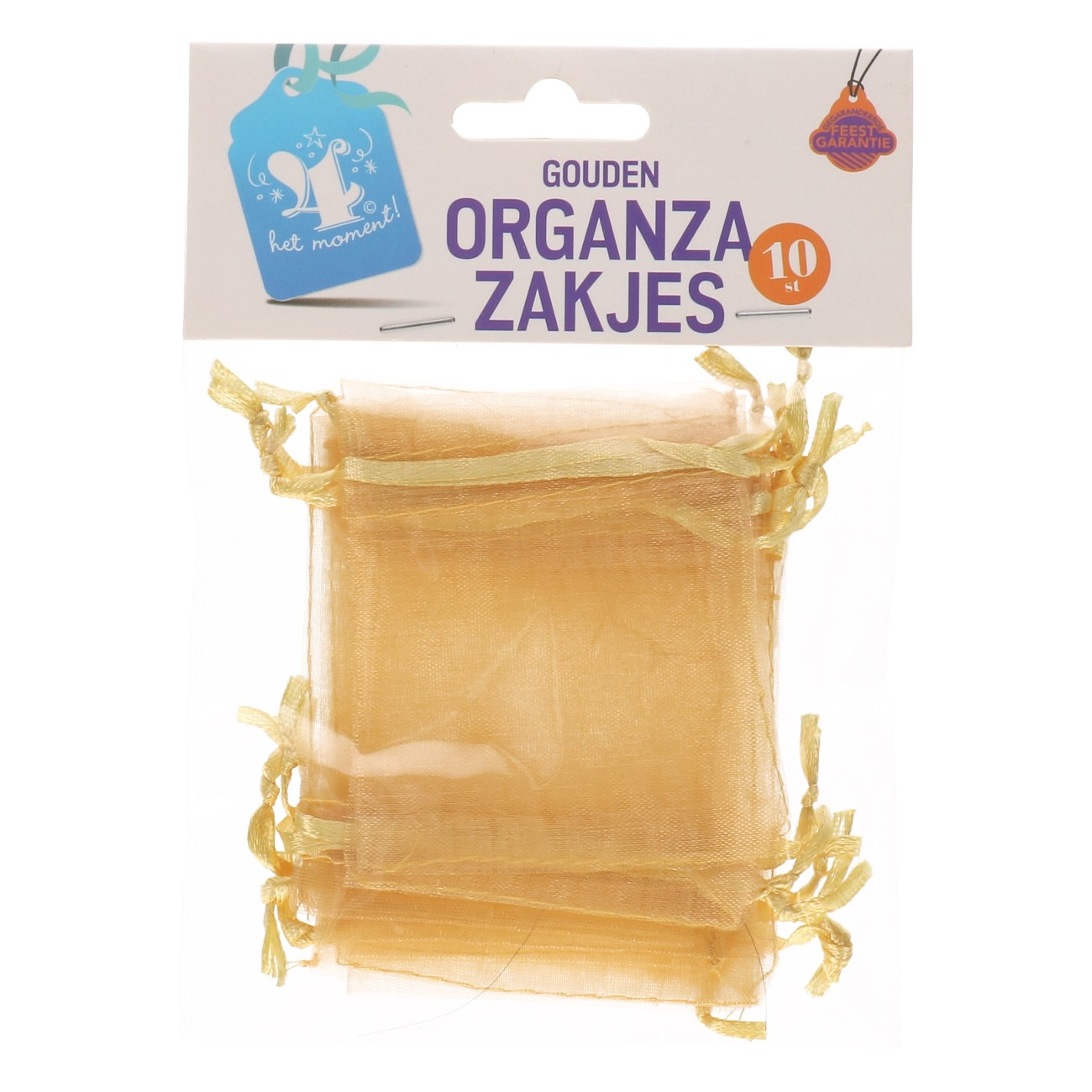 Organza zakjes goud 10 stuks