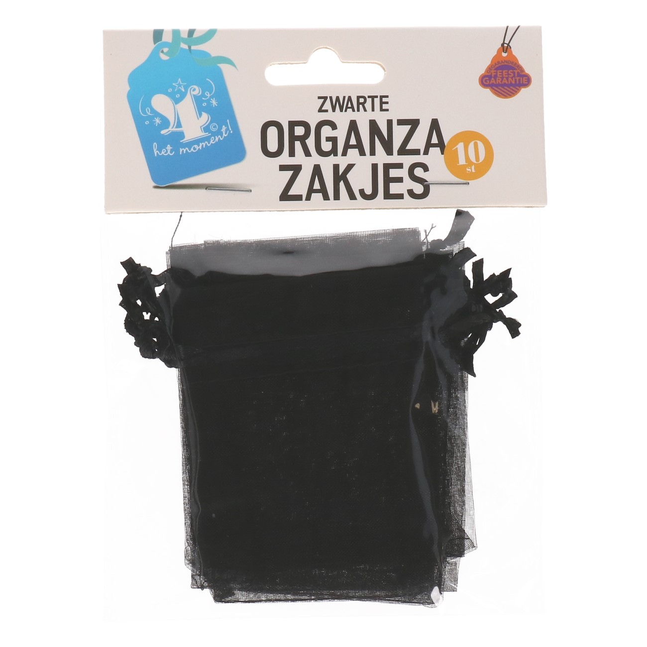 Organza zakjes zwart 10 stuks