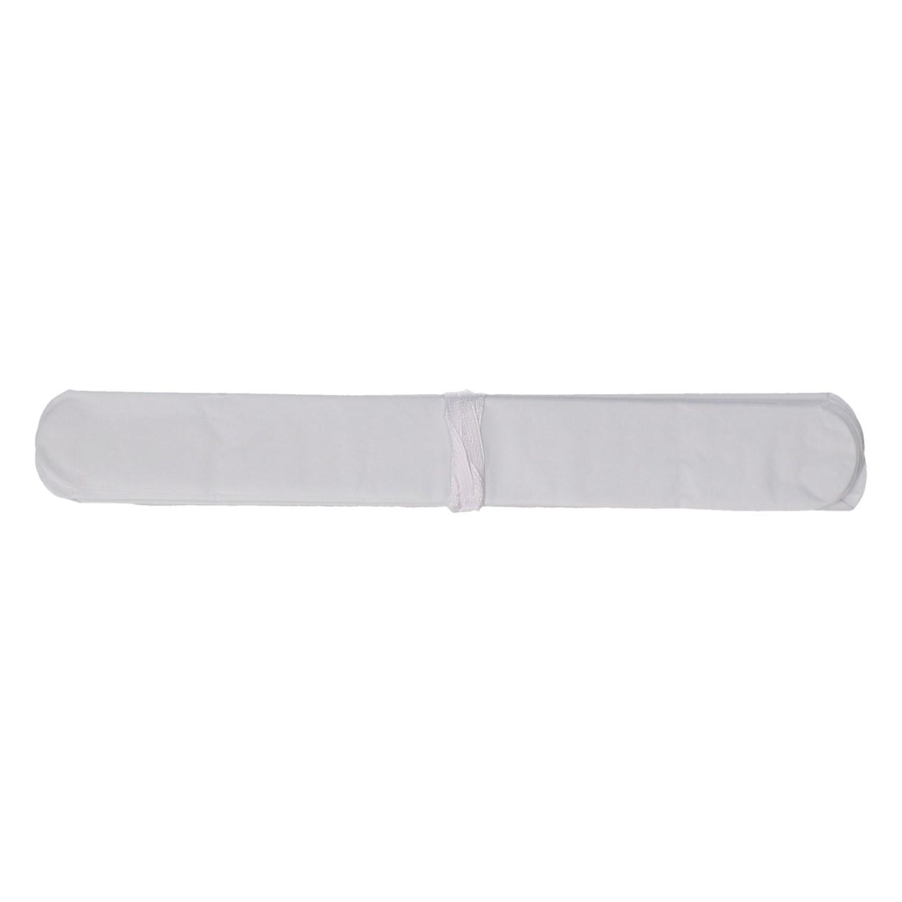 Papieren pompom 20cm wit