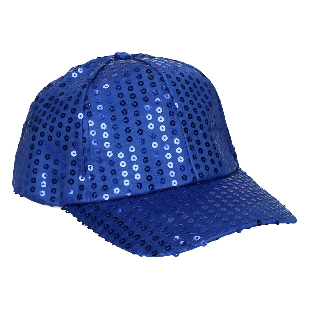 Party pet pailletten blauw