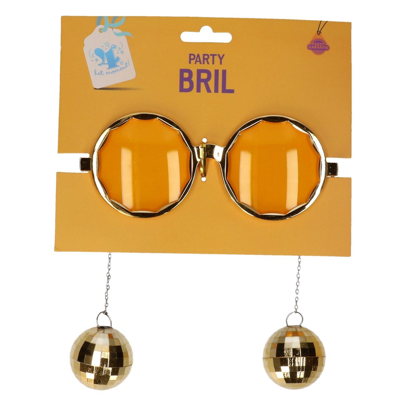 Partybril Discobal goud #314