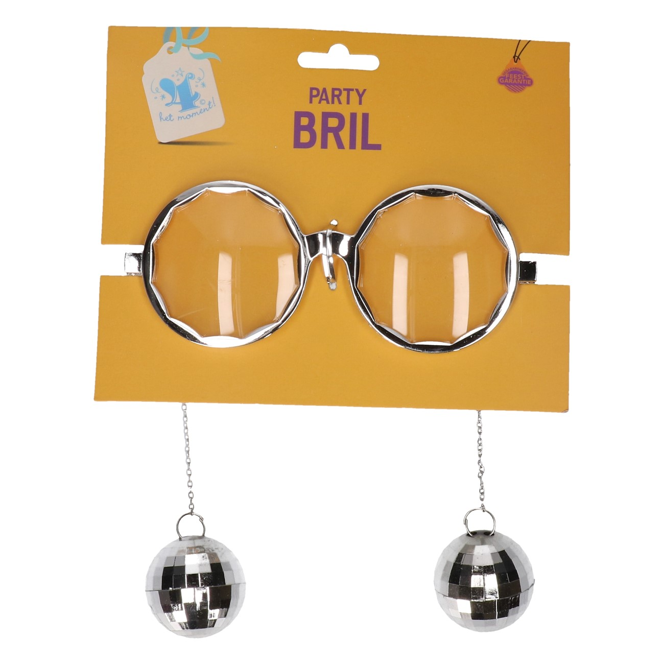 Partybril Discobal zilver #321
