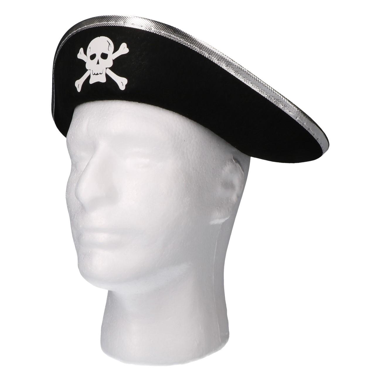 Piratenhoed zwart