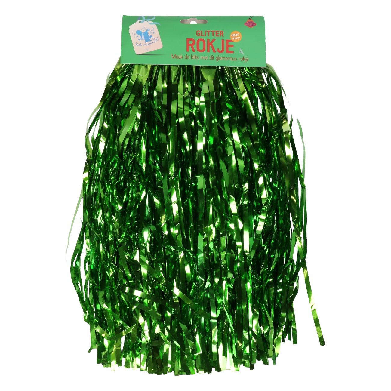 Rokje groen glitter one size