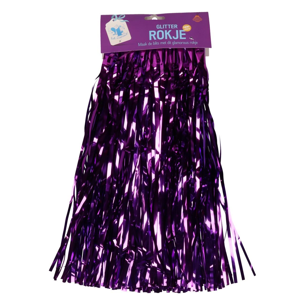 Rokje paars glitter one size