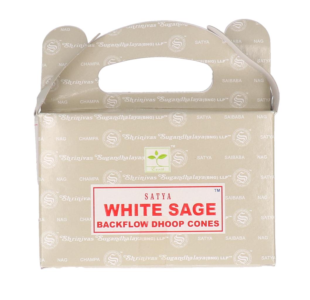 Satya White Sage backflow cones 24st
