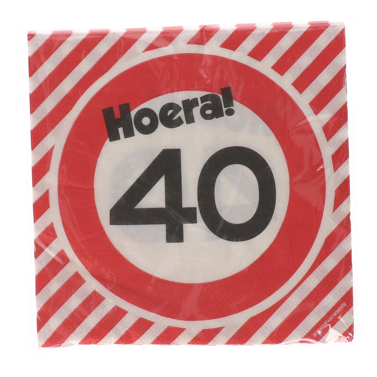 Servetten Verjaardag 40 jaar