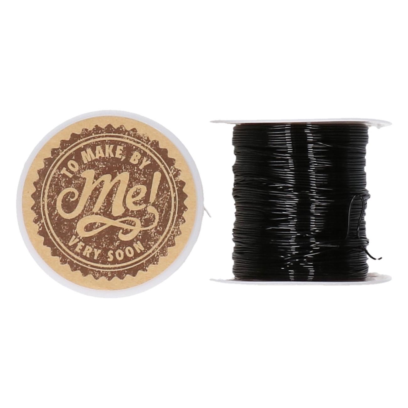 Sieraden elastiek zwart of wit dia 0,6 mm SK.874