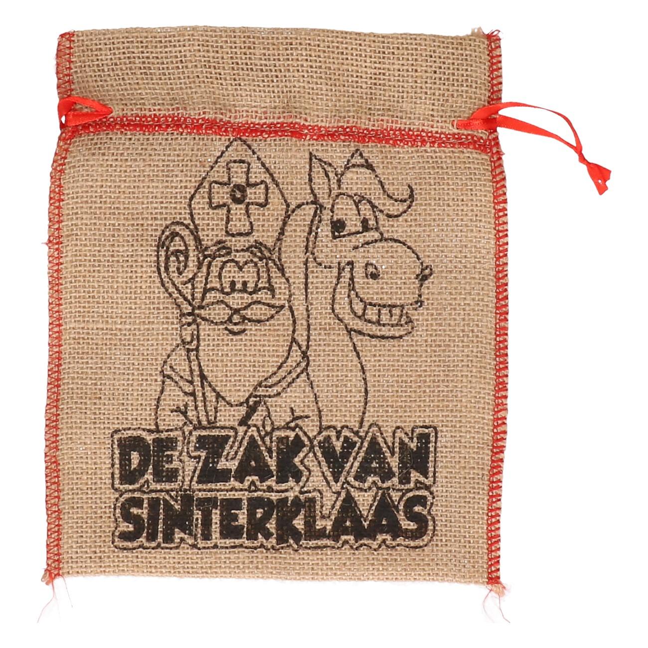 """Sinterklaas jute zak """"de zak van sinterklaas"""""""