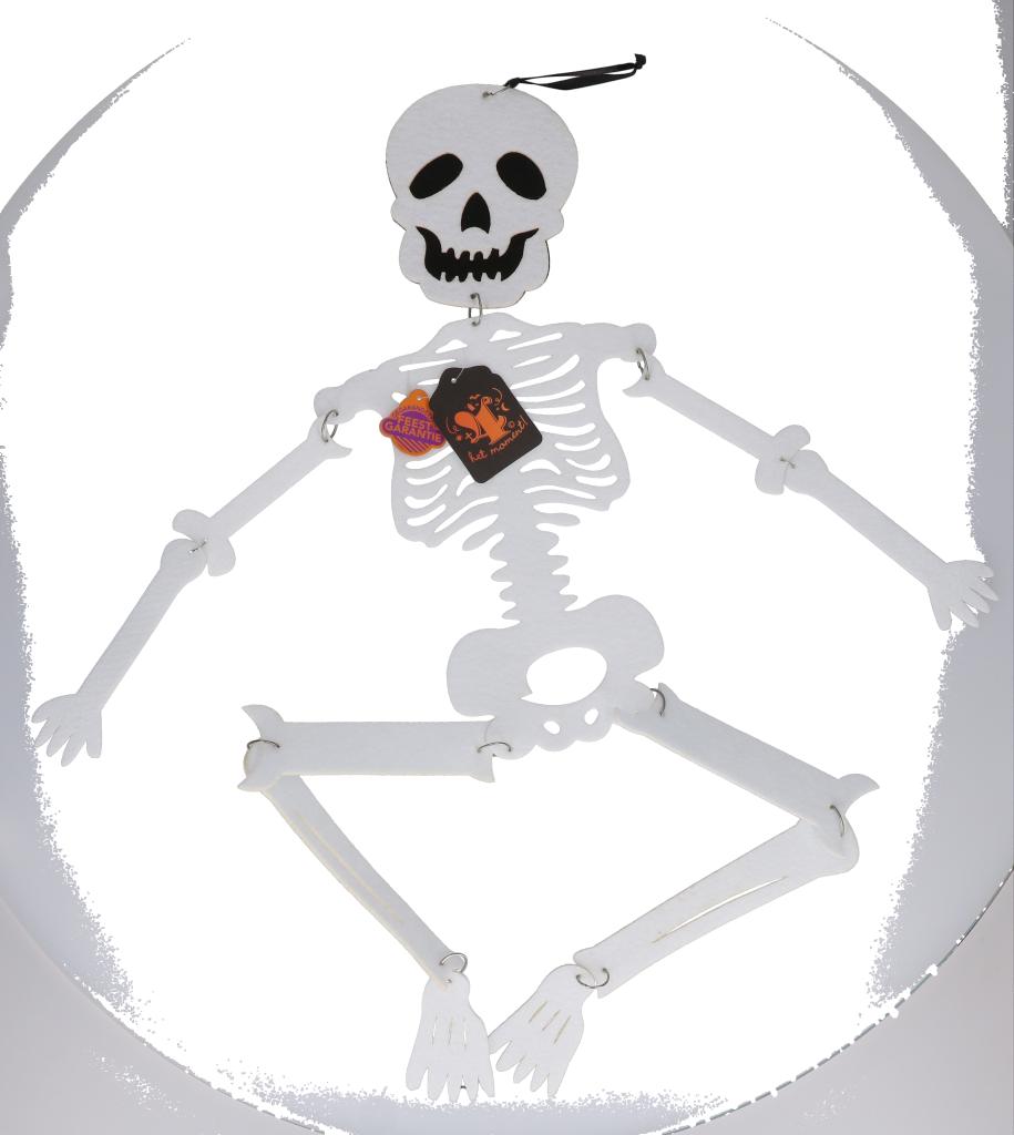 Skelet decoratie vilt