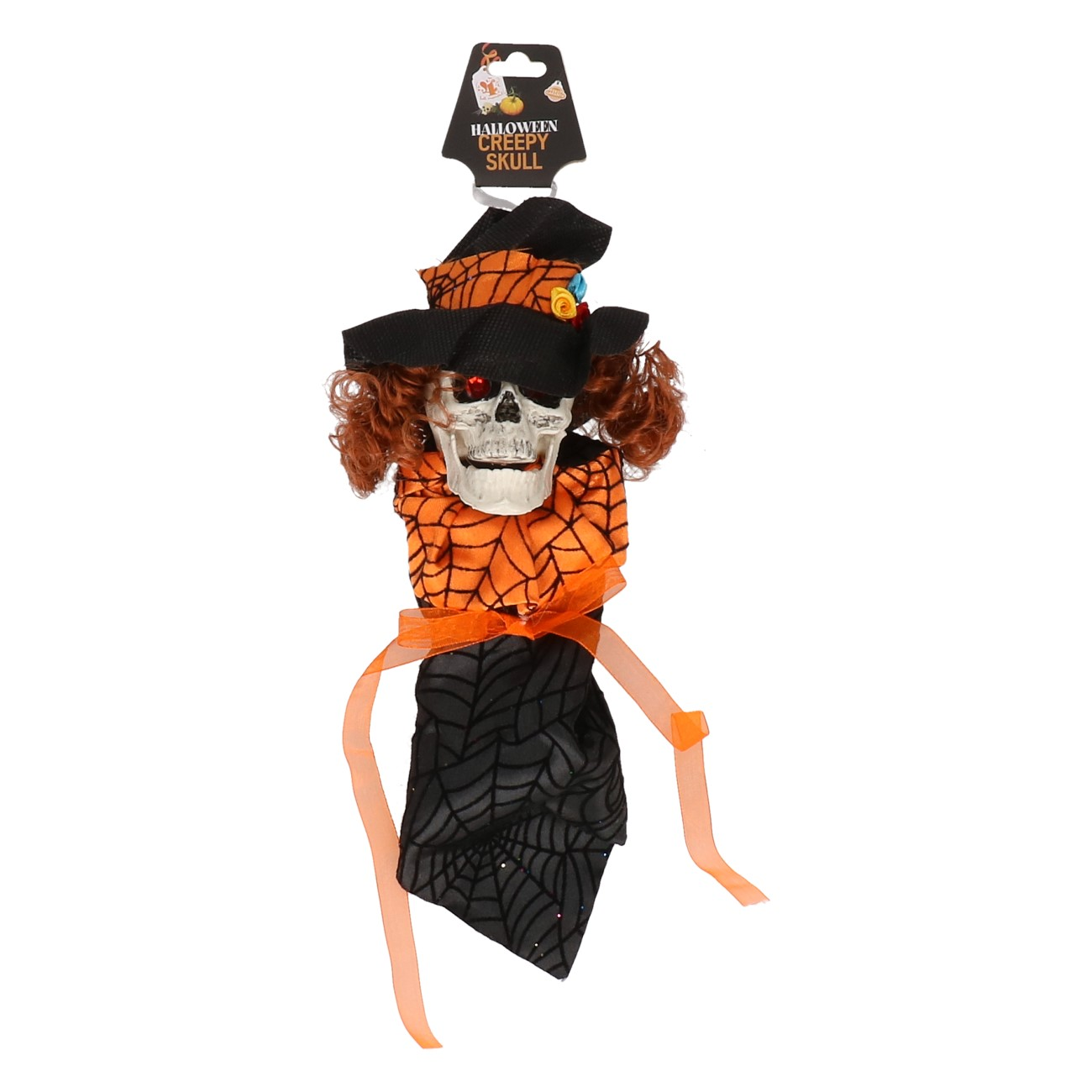 Skull met hoed hangend