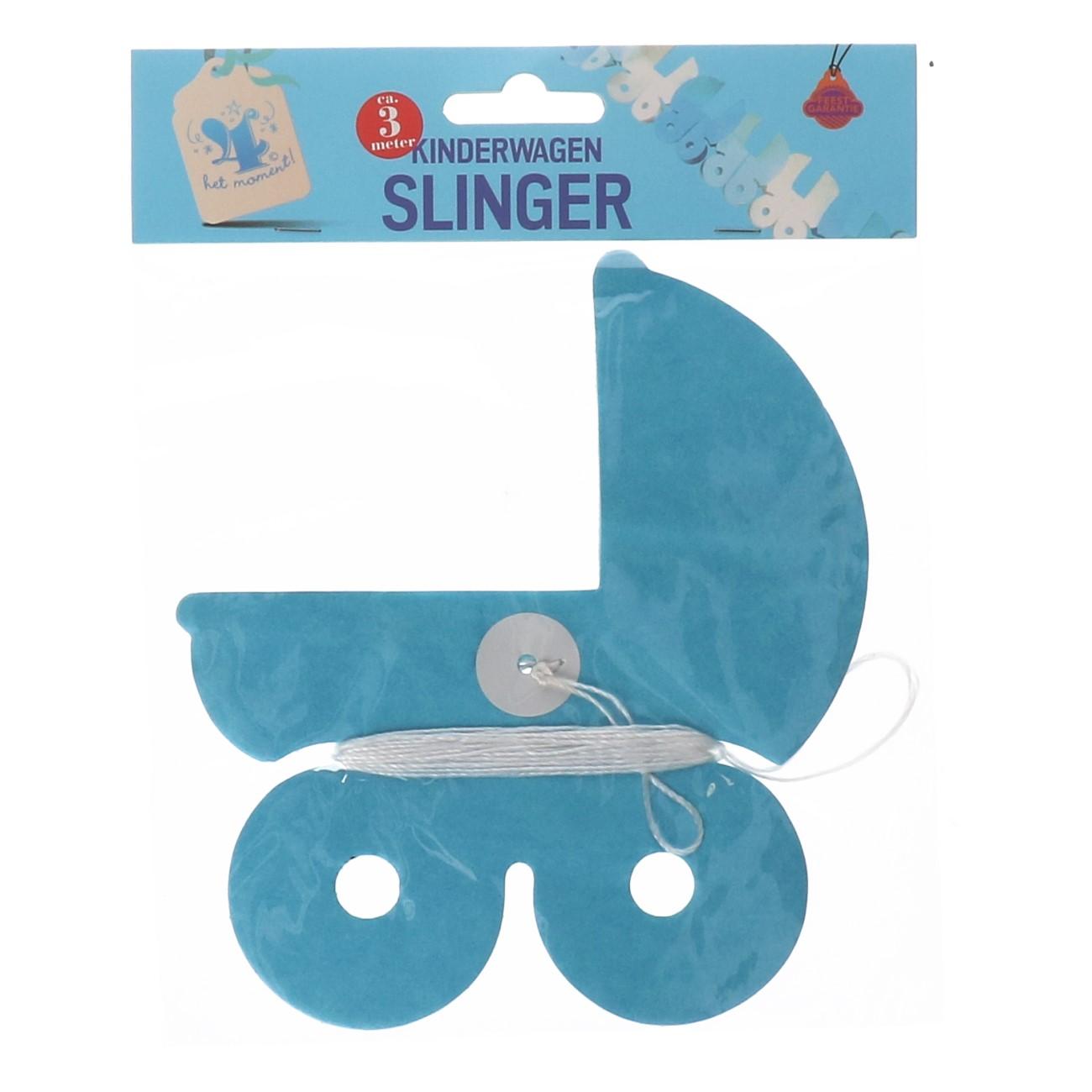 Slinger kinderwagen blauw