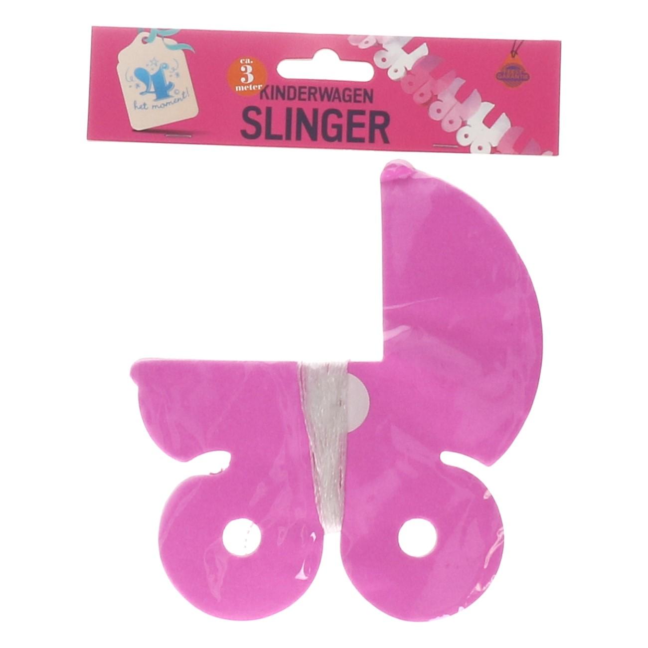 Slinger kinderwagen roze