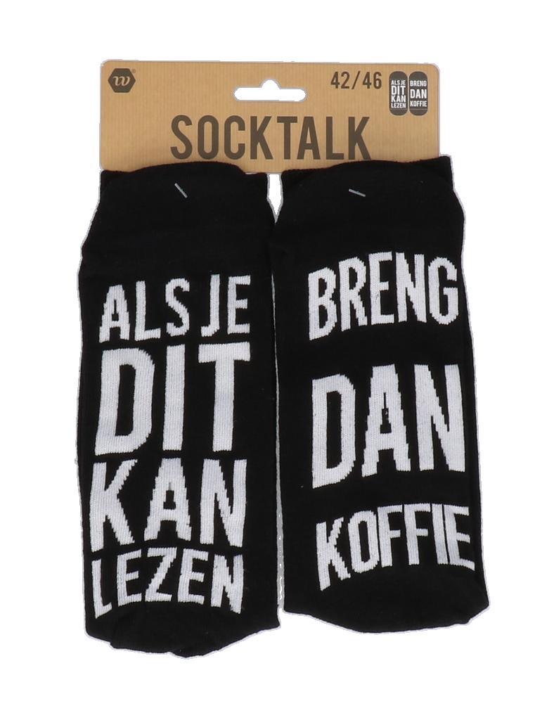 Statement sokken 42-46 breng dan koffie
