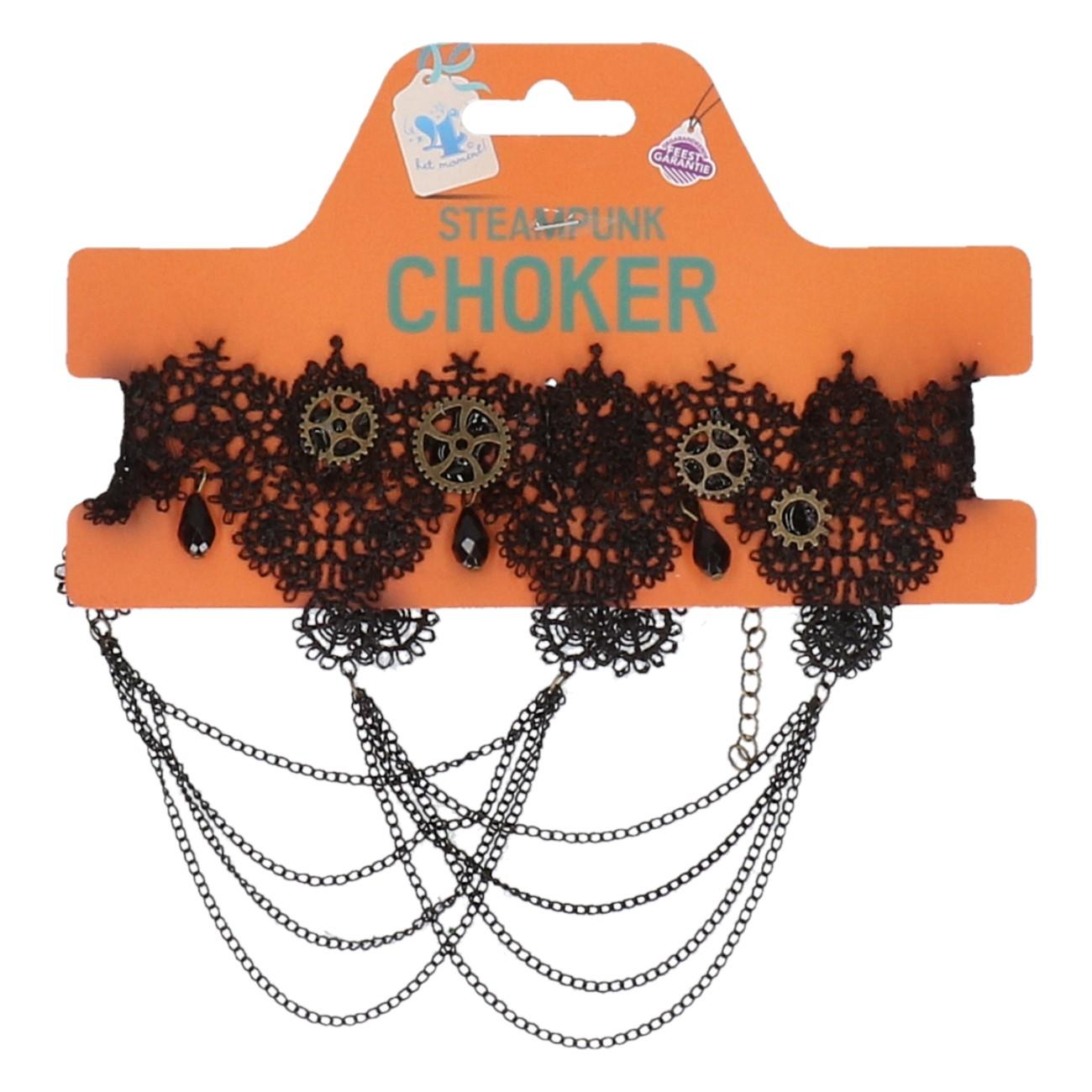 Steampunk choker mix designs