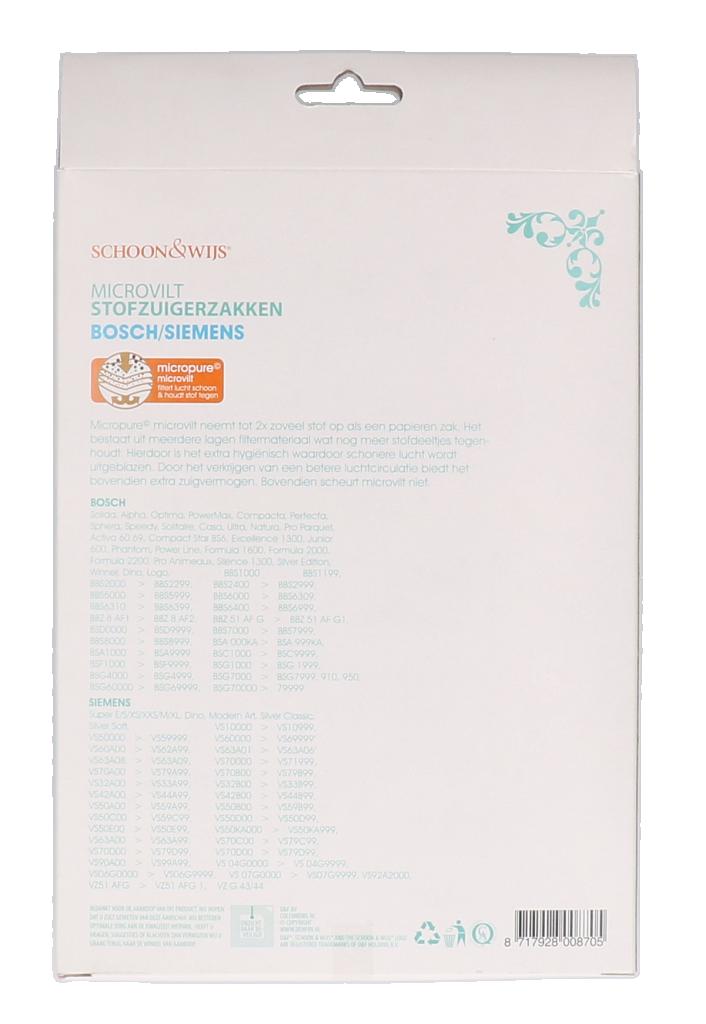 Stofzuigerzak Siemens Bosch microvilt