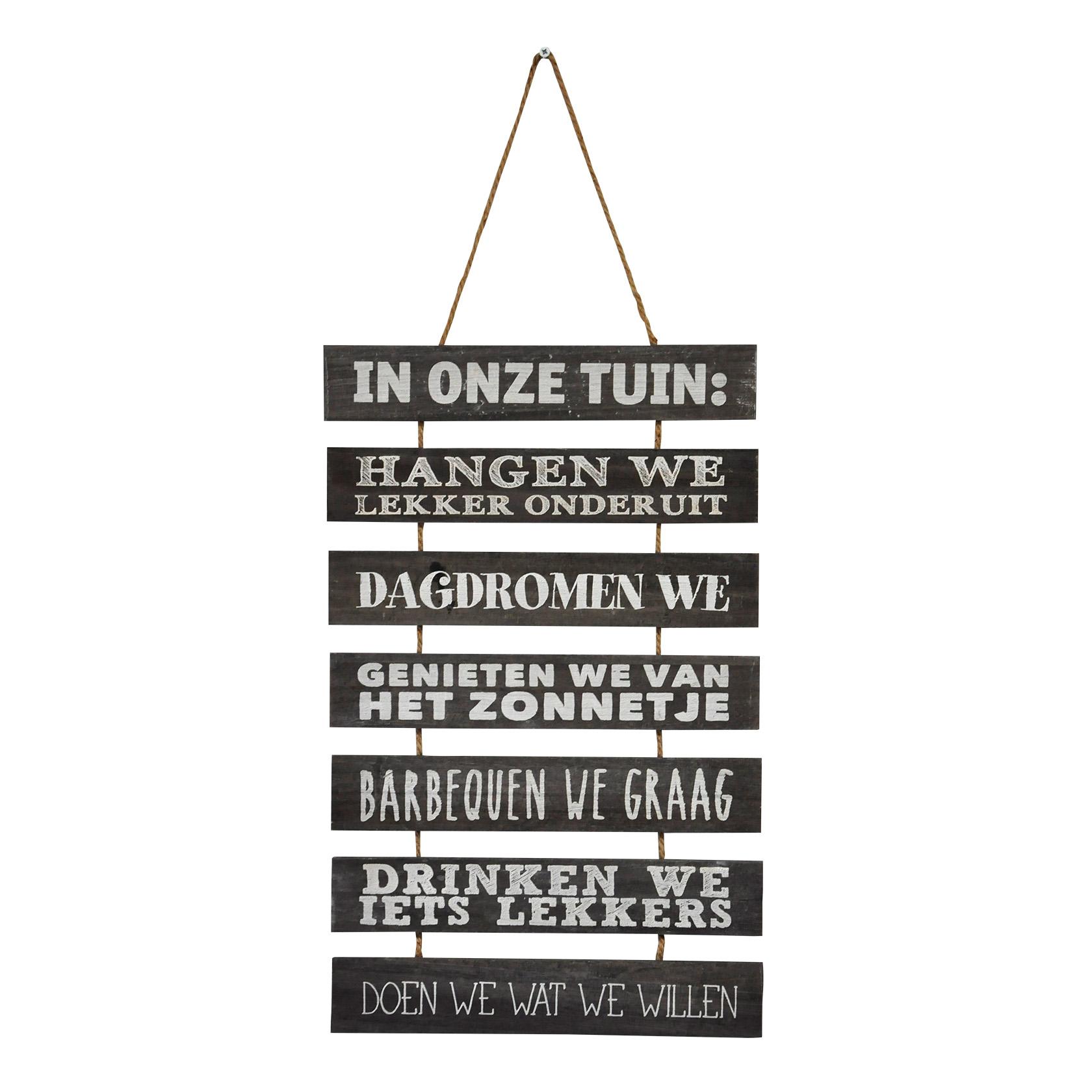 Tuindecoratie ladder teksten nederlands