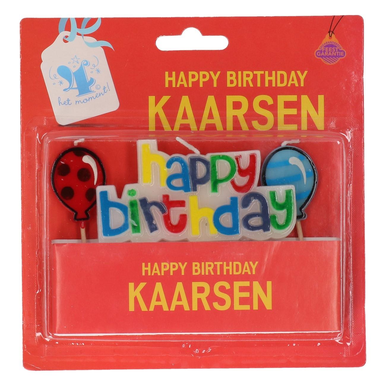 """Verjaardags kaars """"happy birthday"""""""