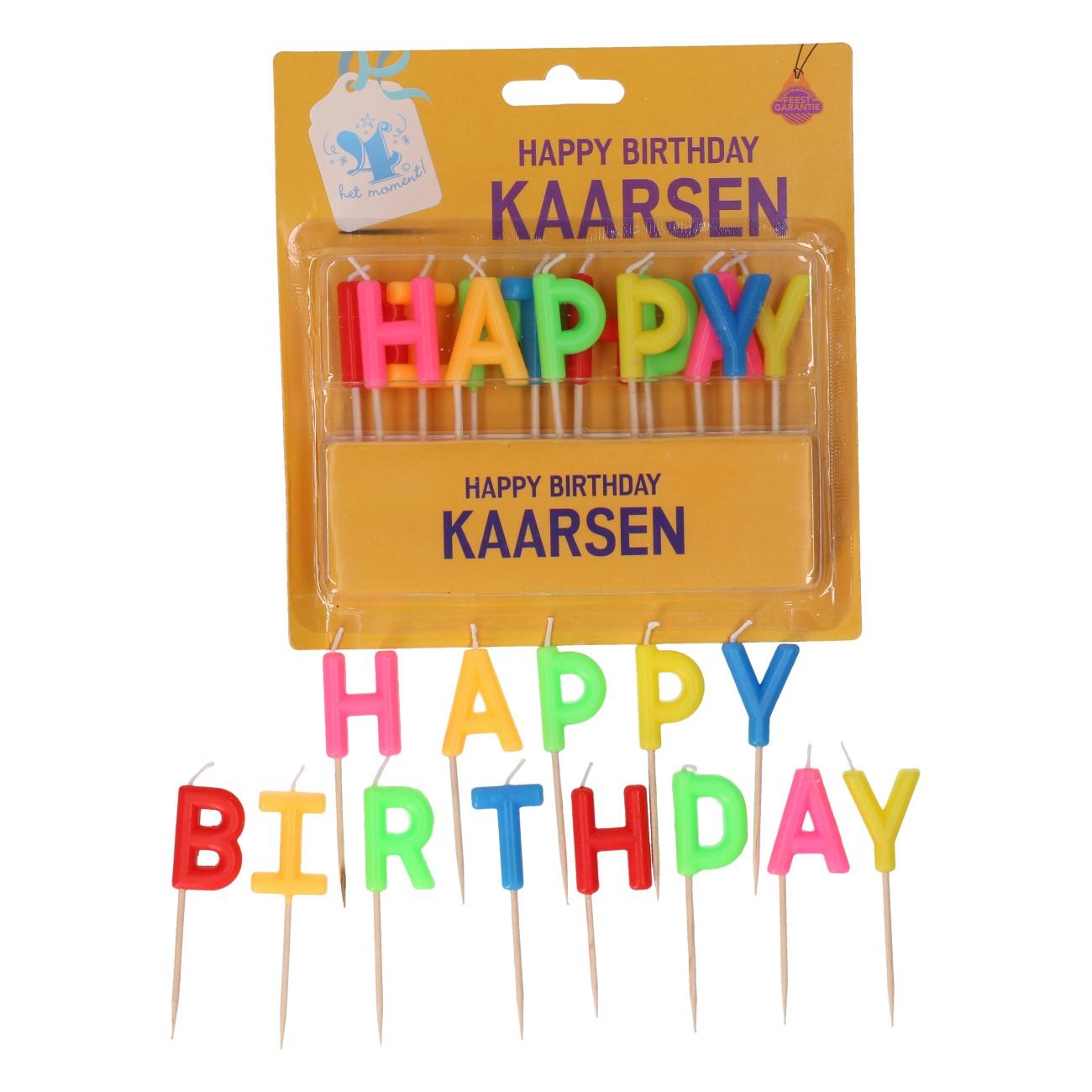 """Verjaardagskaarsjes """"happy birthday"""""""
