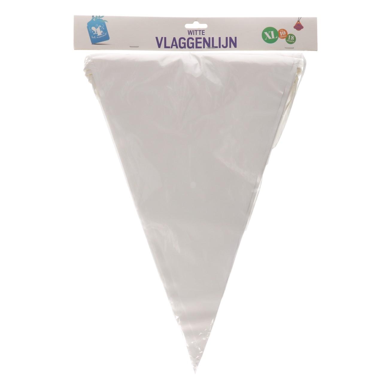 Vlaggenlijn wit xl