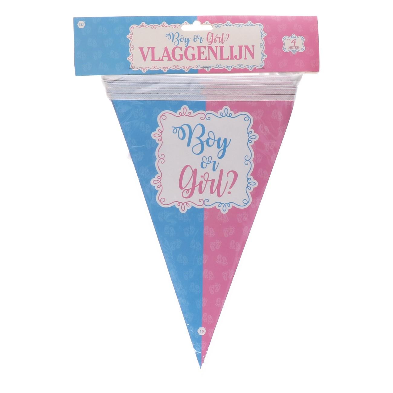 "Vlaggenlijn ""boy or girl"""