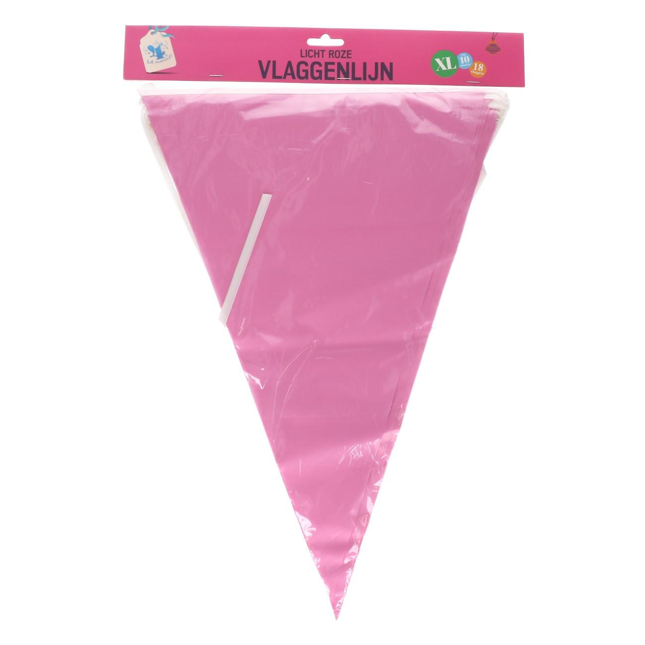 Vlaggenlijn licht roze xl