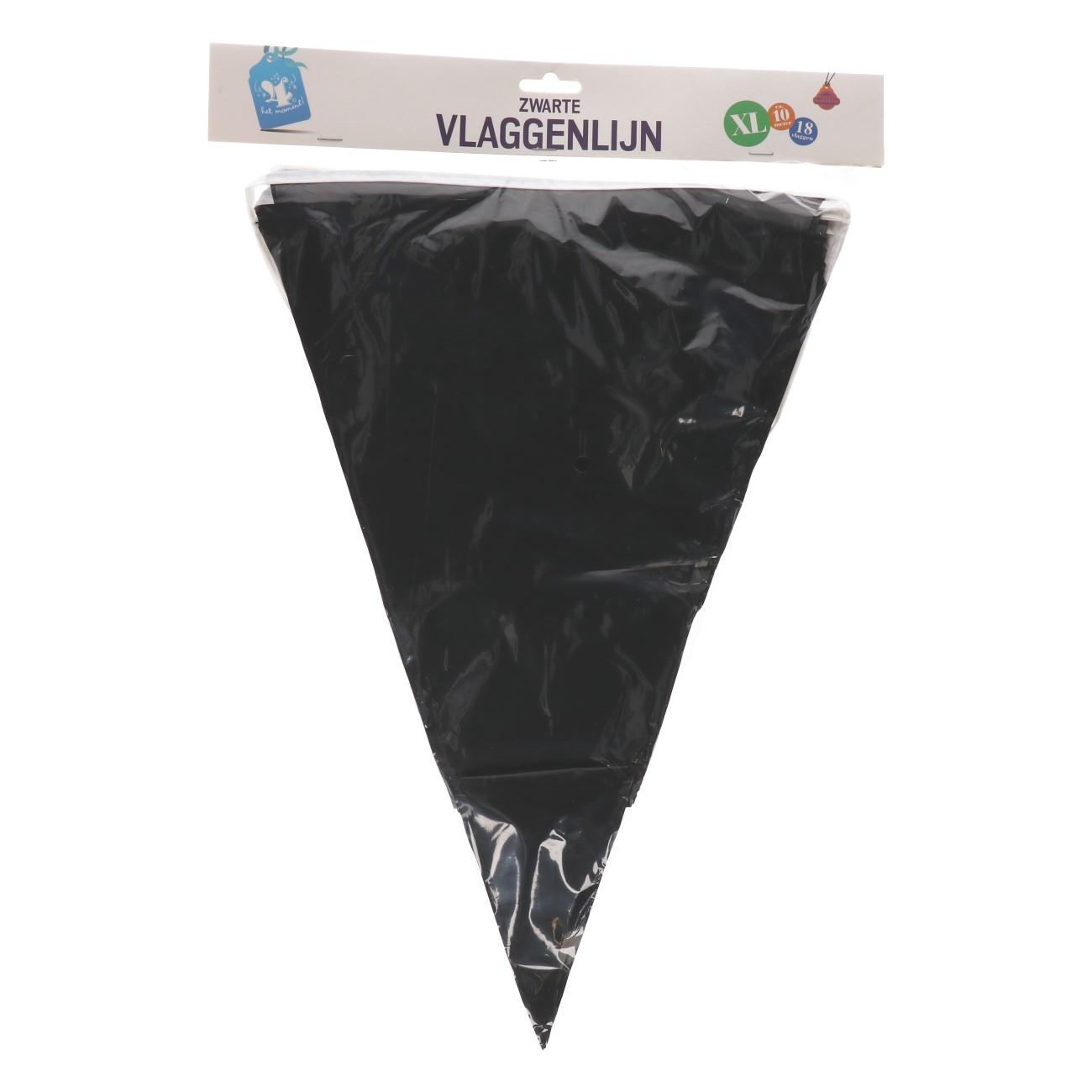 Vlaggenlijn zwart xl