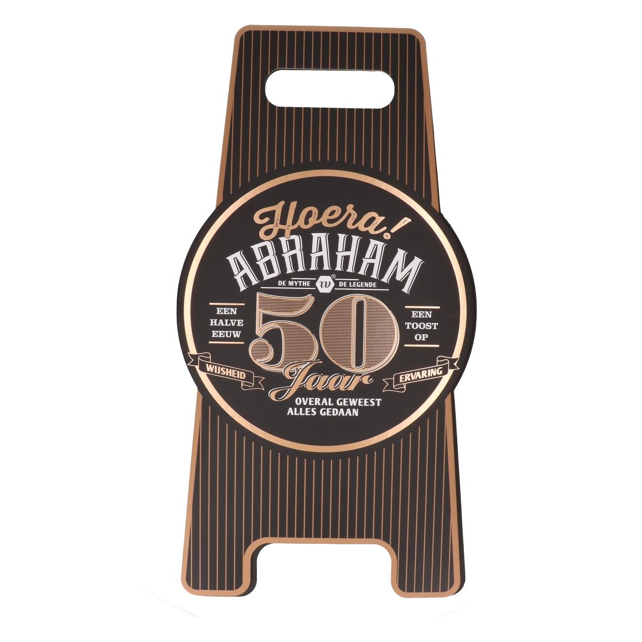 Vloerbord Abraham 50 jaar