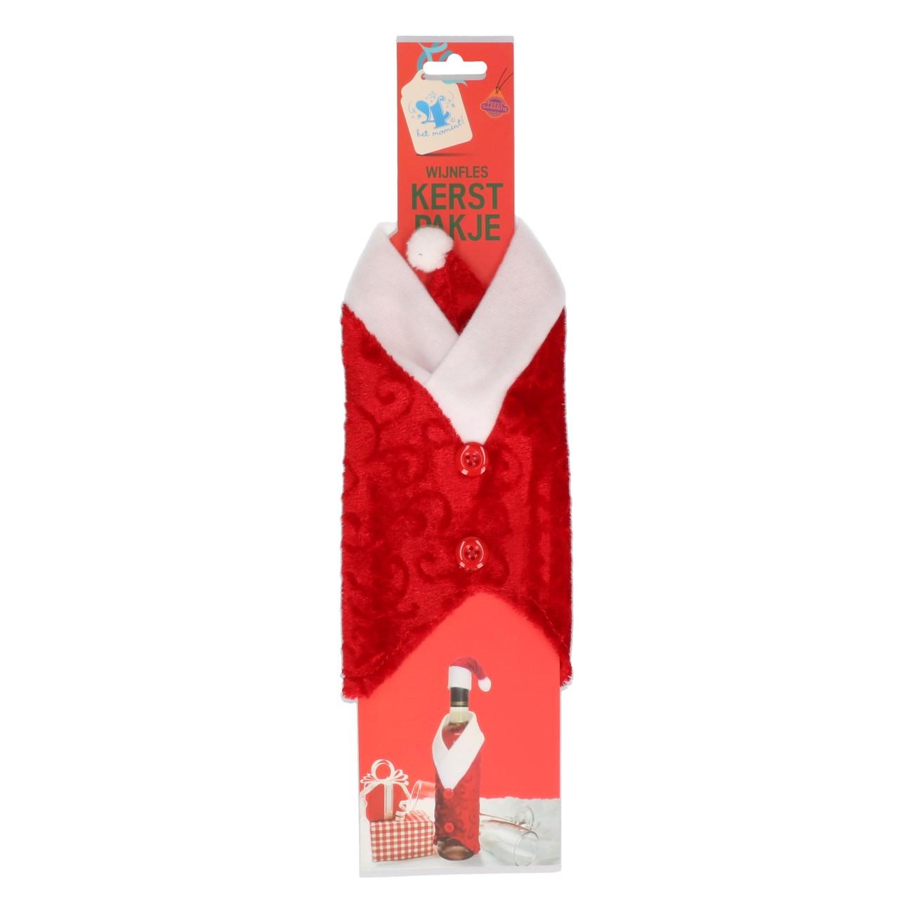 Wijnfles kerstpakje