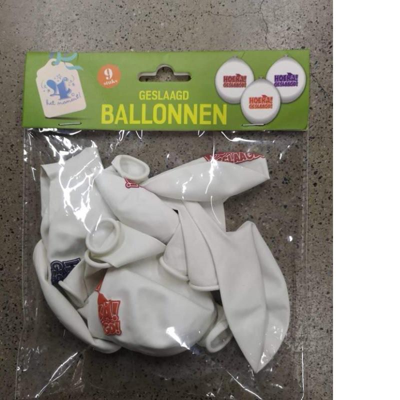 Ballonnen geslaagd 9 stuks