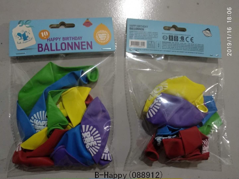 Ballonnen Happy birthday 10 stuks