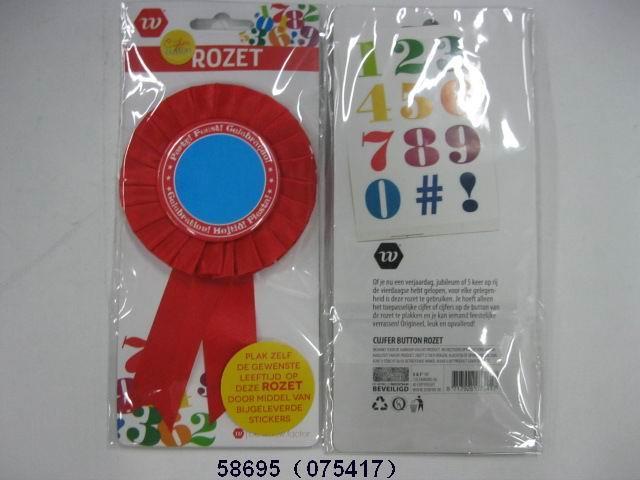 Rozet met nummer stickers
