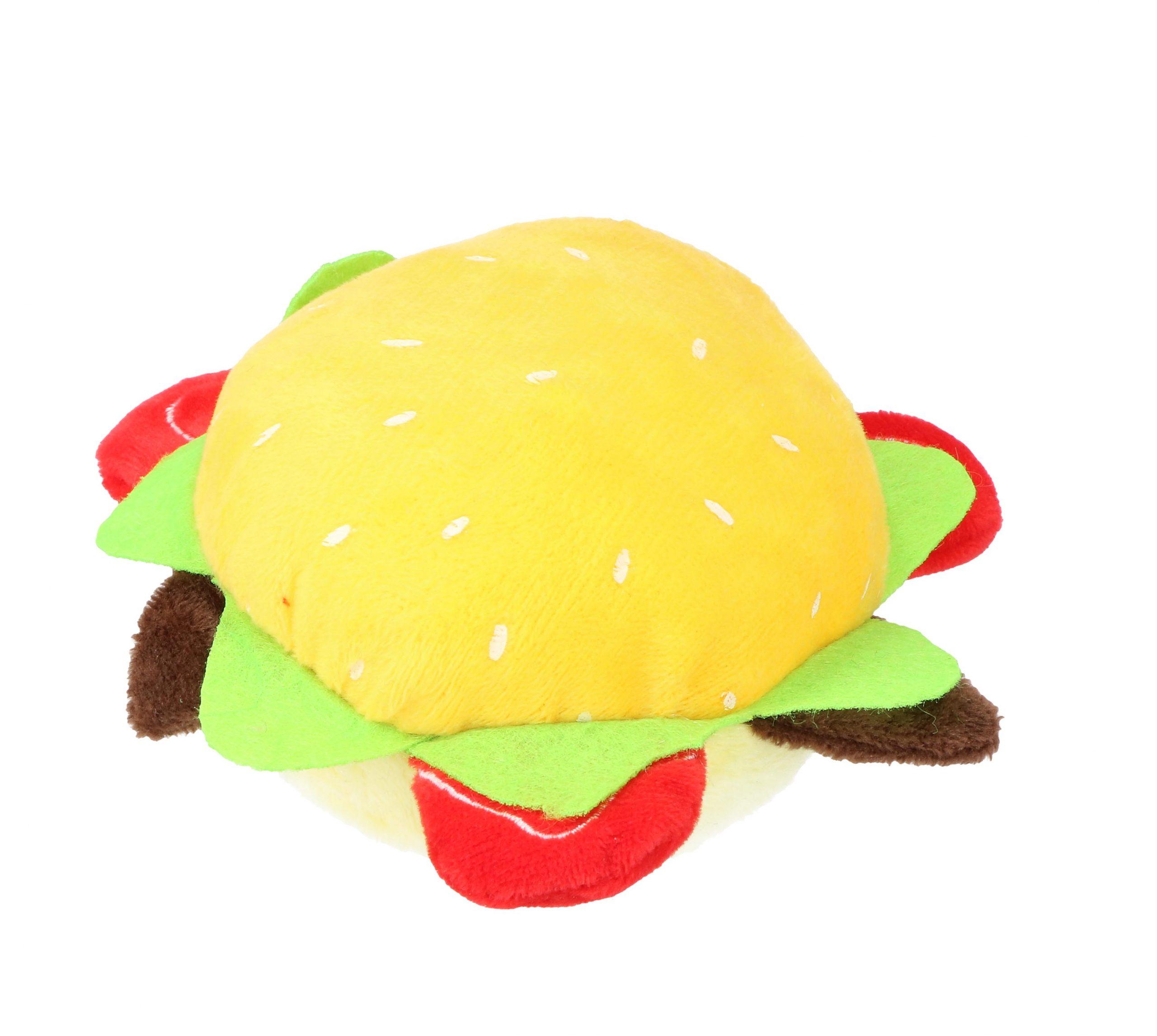 Hondenspeeltje hamburger