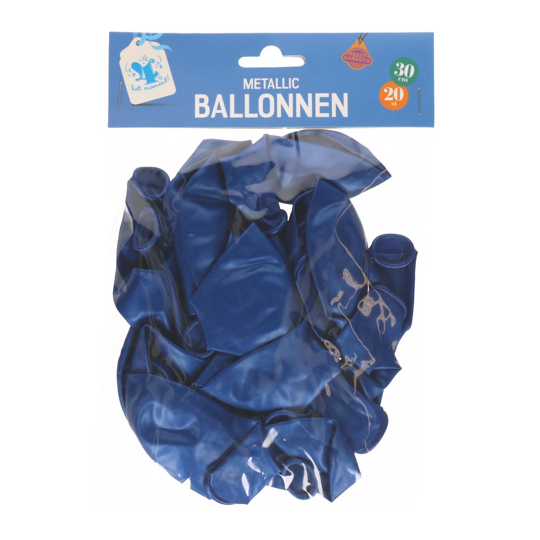 Ballonnen blauw 20 stuks