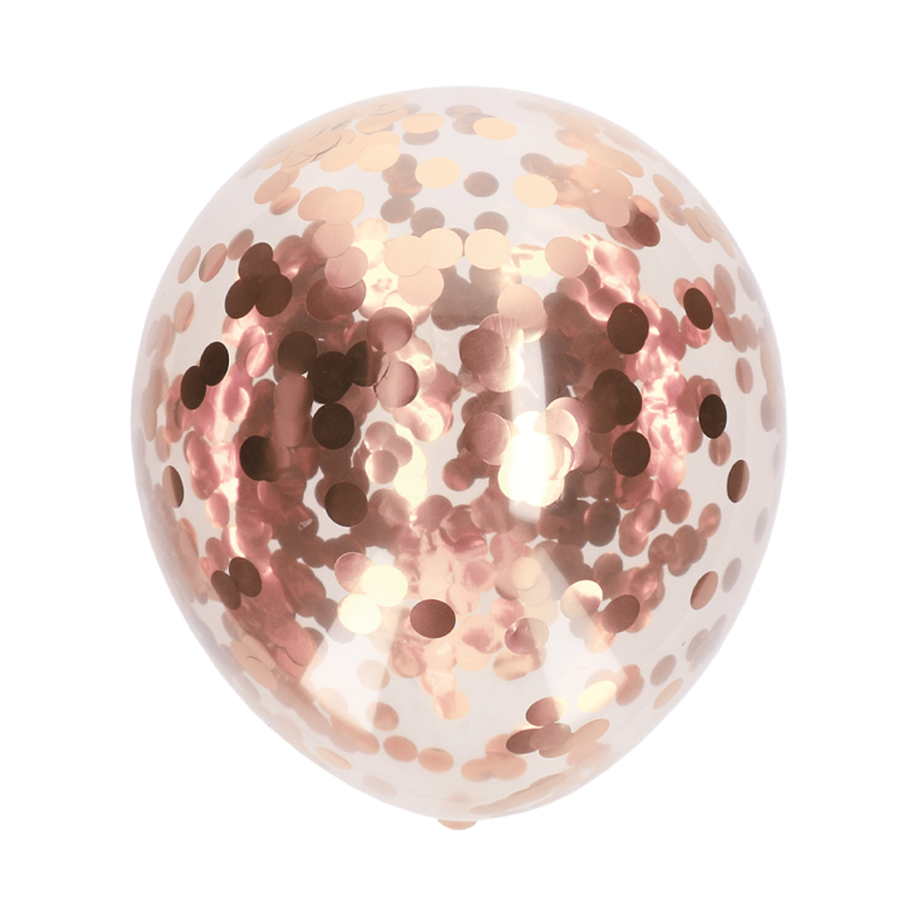 Ballonnen confetti rosé-goud 5 stuks