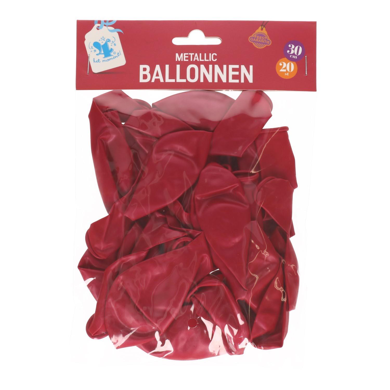 Ballonnen fuchsia 20 stuks