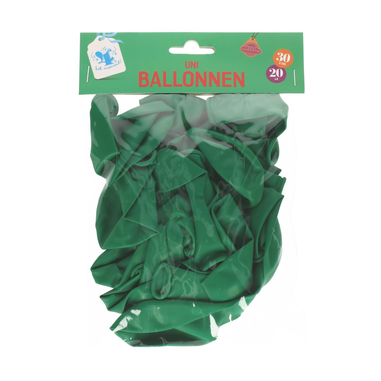 Ballonnen groen 20 stuks