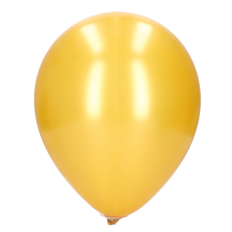 Ballonnen parelmoer/goud 30cm 20 st