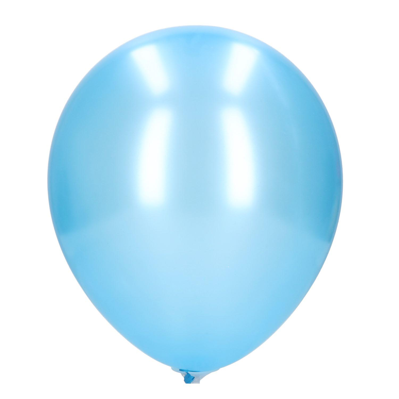 Ballonnen parelmoer/licht blauw 30cm 20 st
