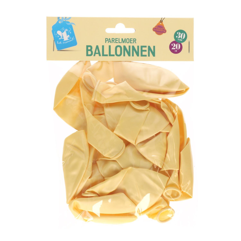 Ballonnen parelmoer ivoor 20 st