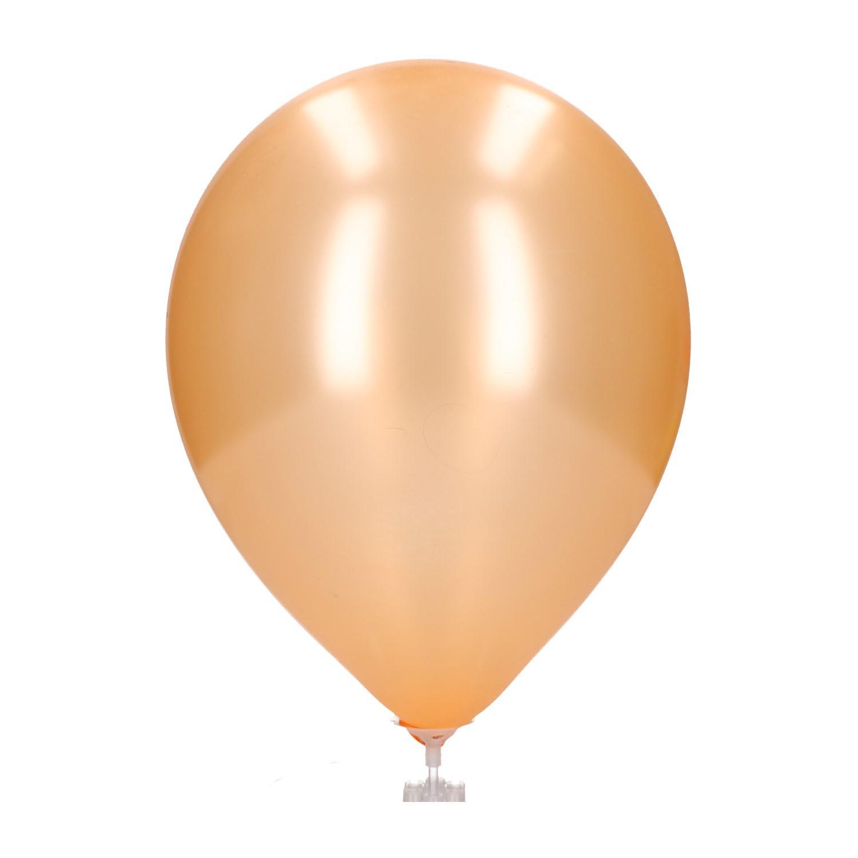 Ballonnen parelmoer peach 20 st
