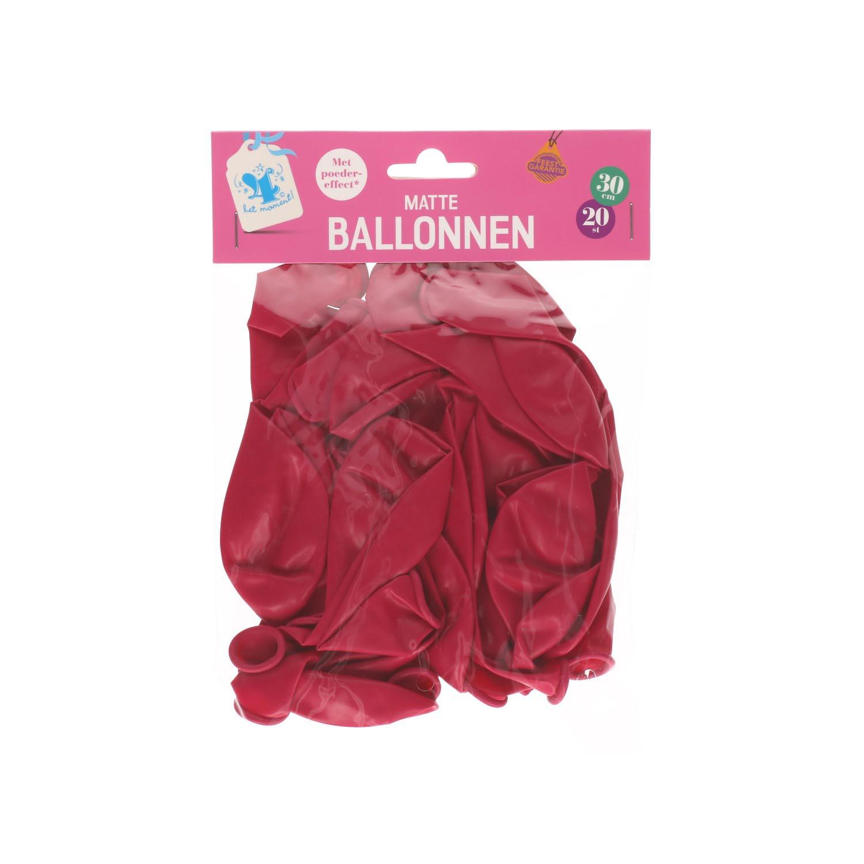Ballonnen ruby 20 stuks
