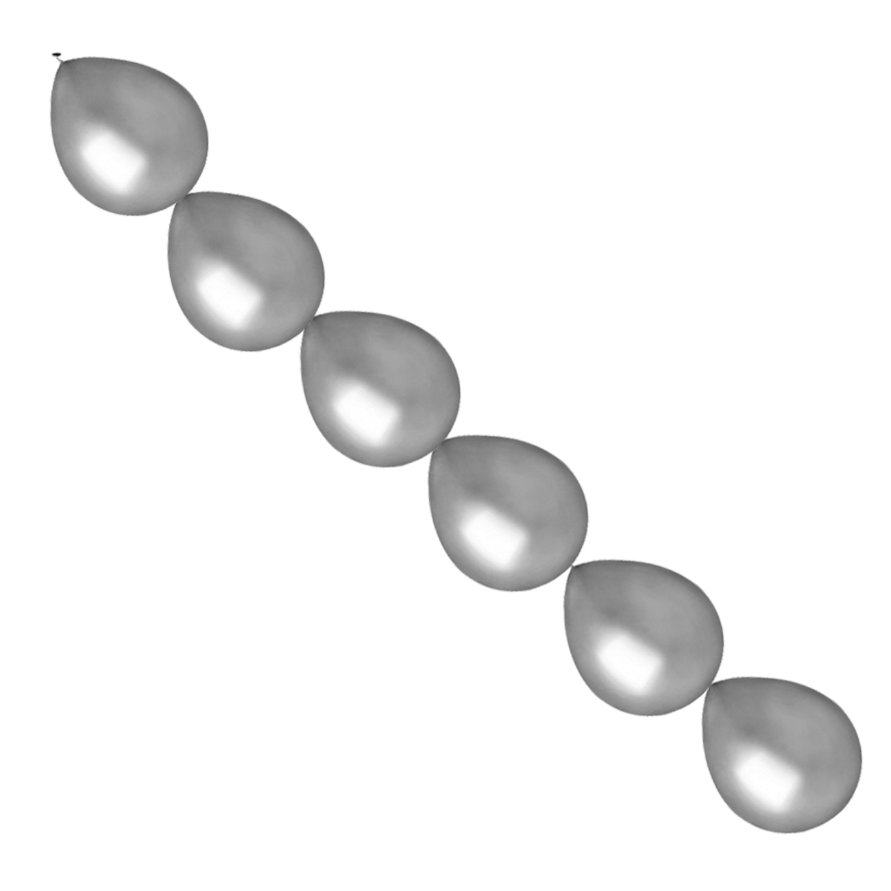 Ballonnen slinger zilver 10 stuks