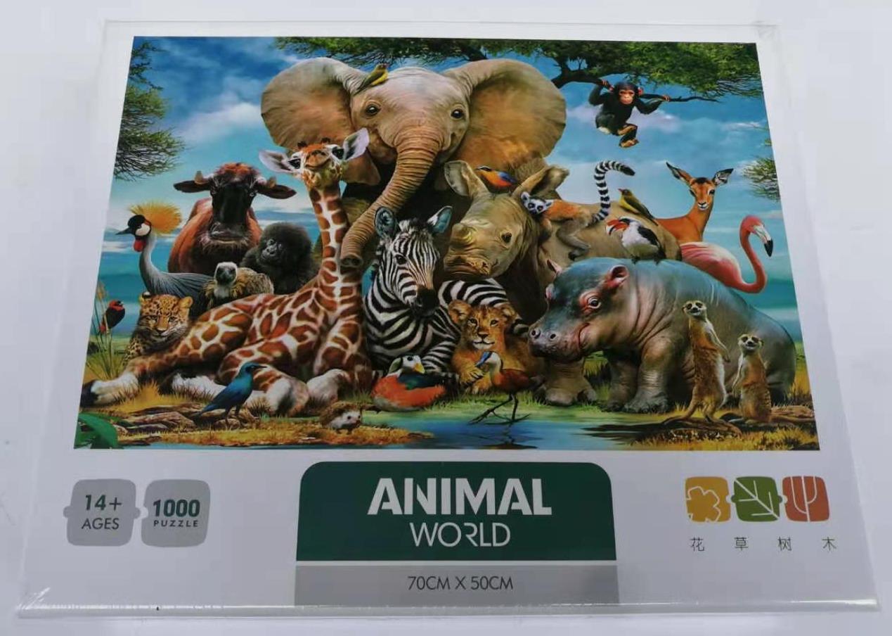 Puzzel animal world
