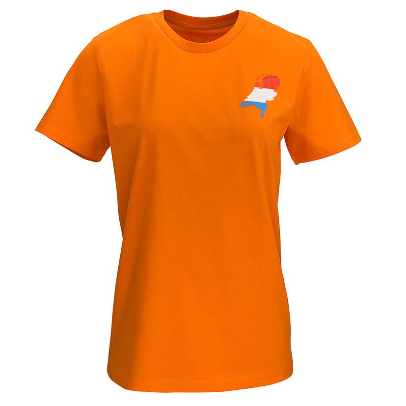 T-shirt oranje dames M