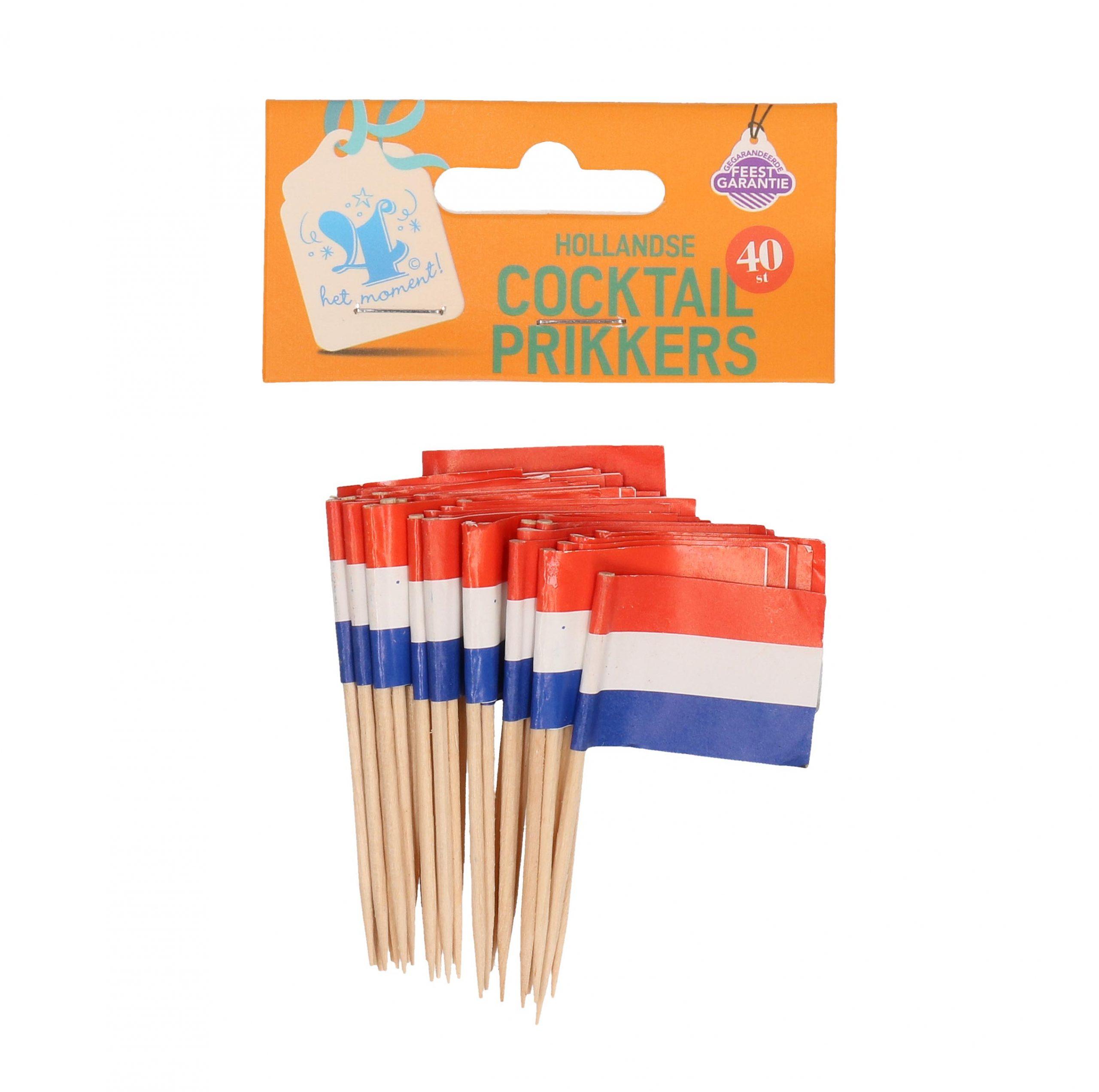 Cocktailprikkers Holland 40 stuks