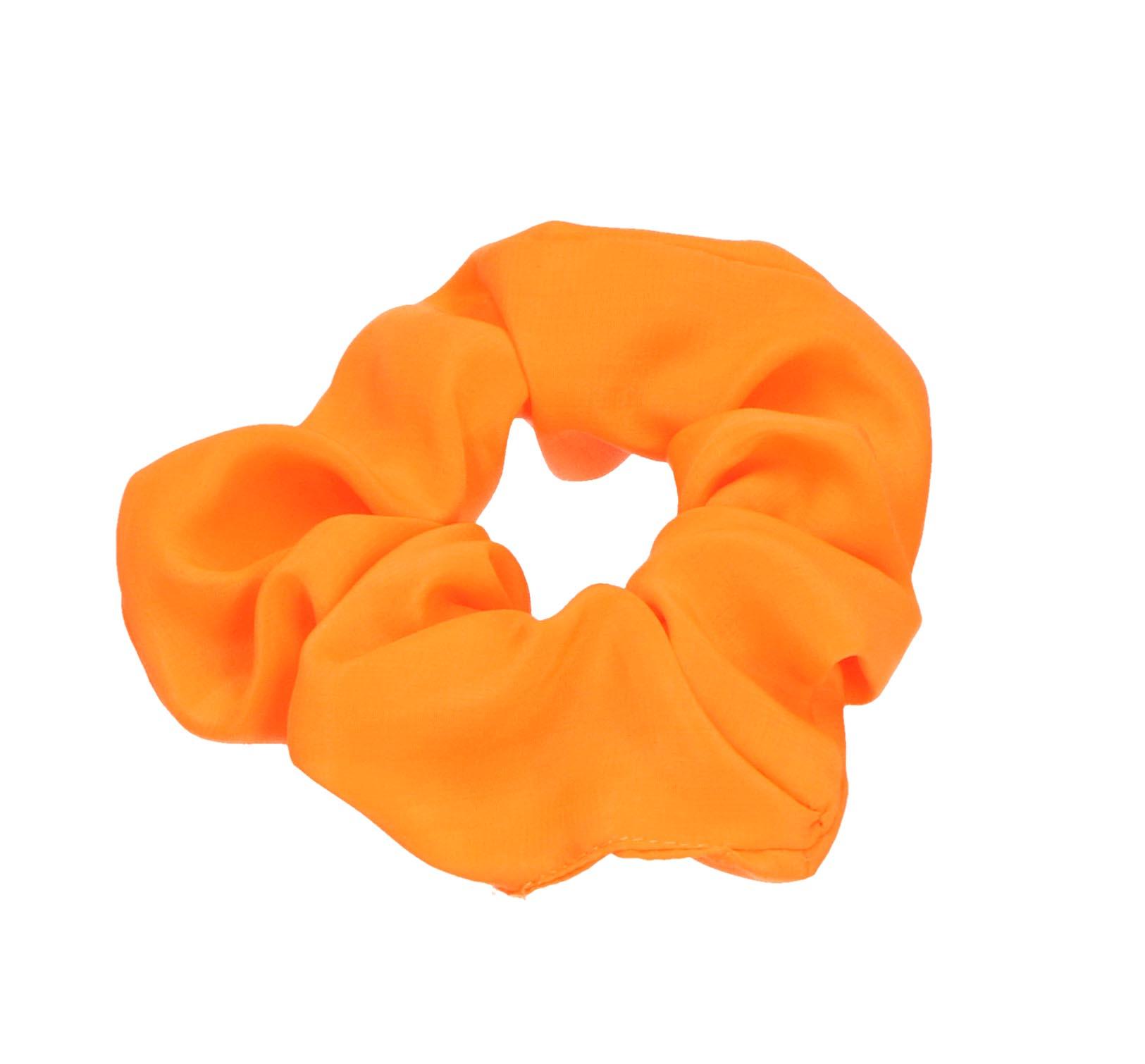 Oranje haarscrunchie
