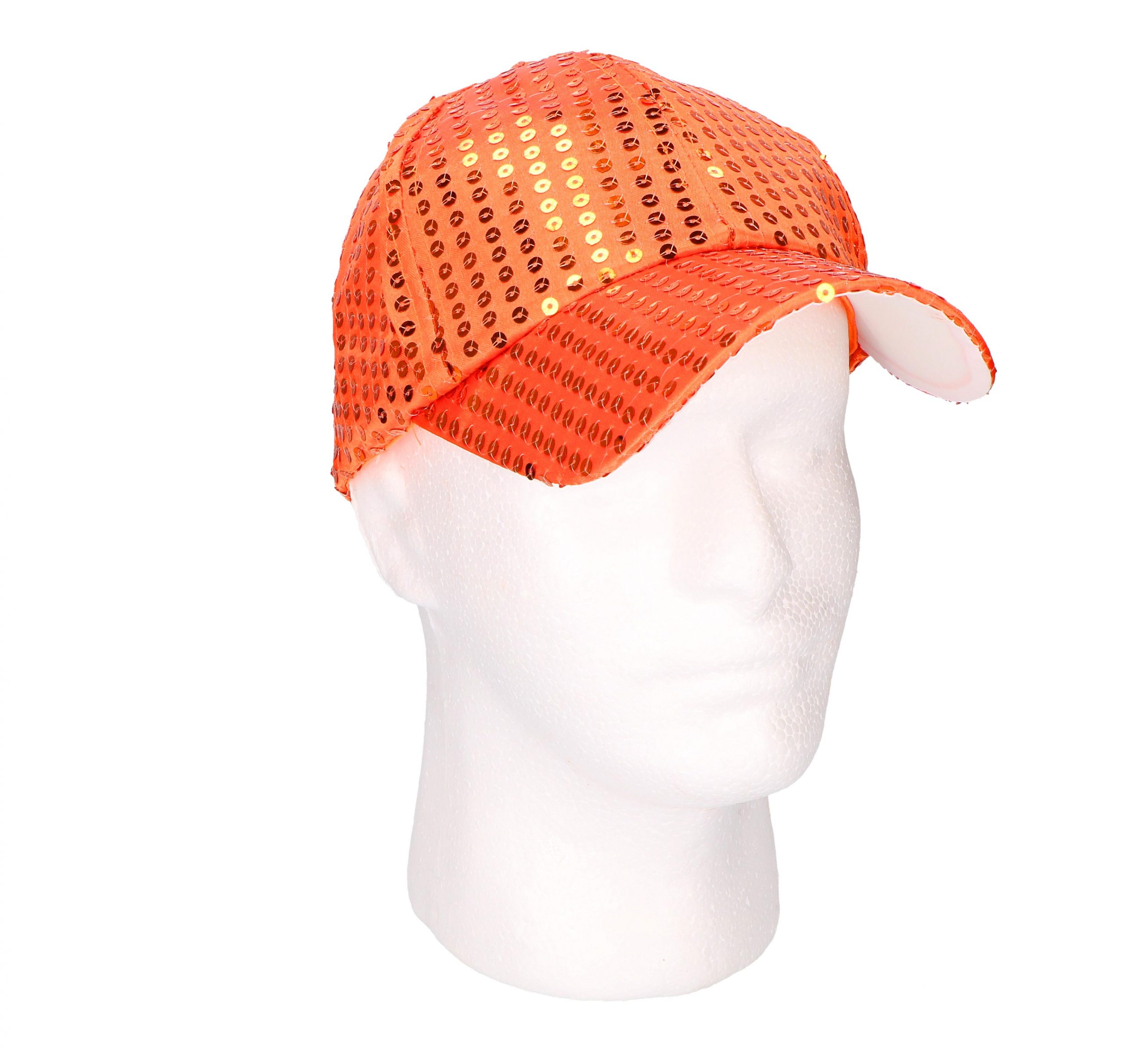 Party pet pailletten oranje