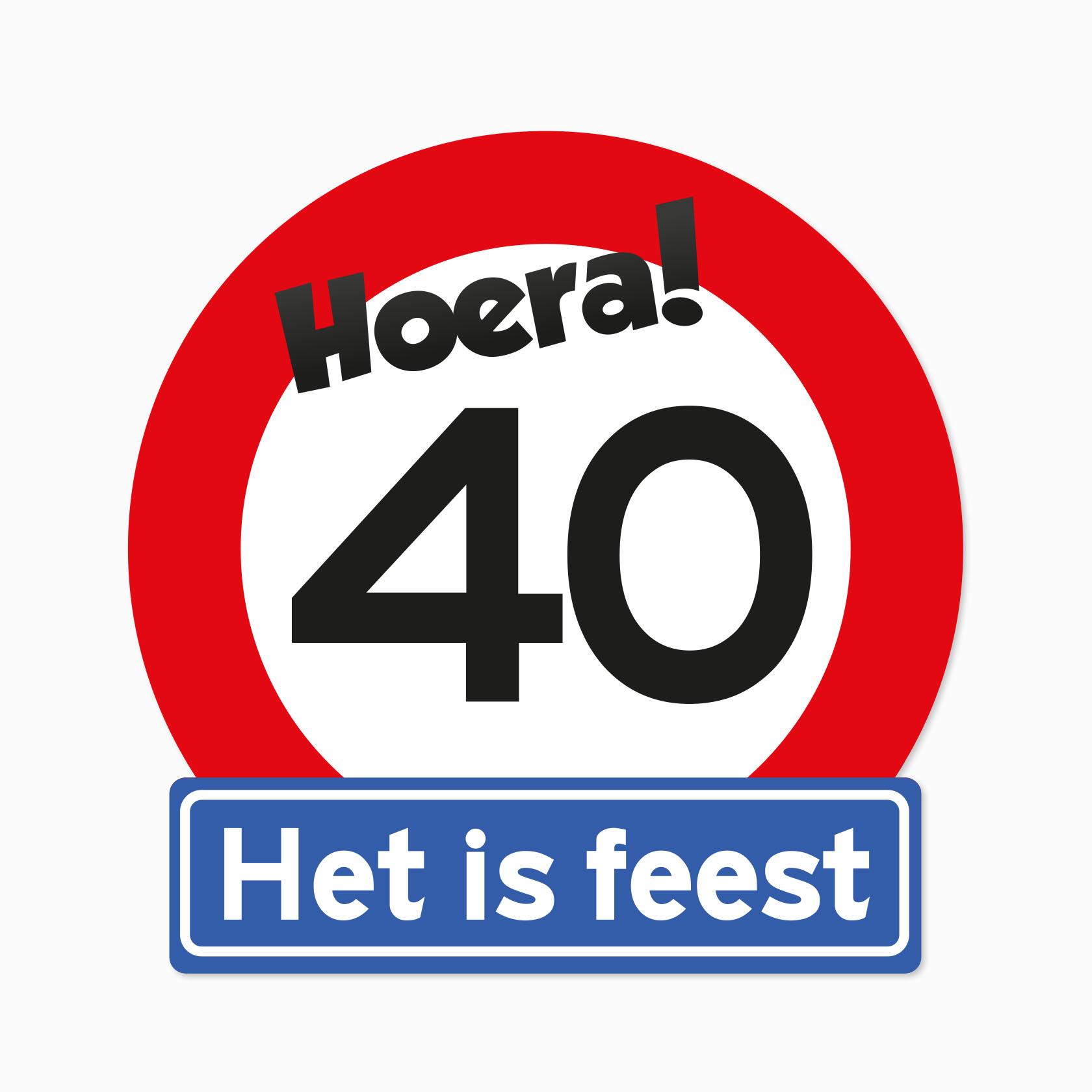 Verkeersbord leeftijd 40#